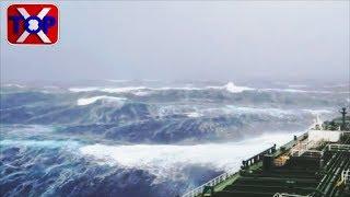 Uragano nave in tempesta