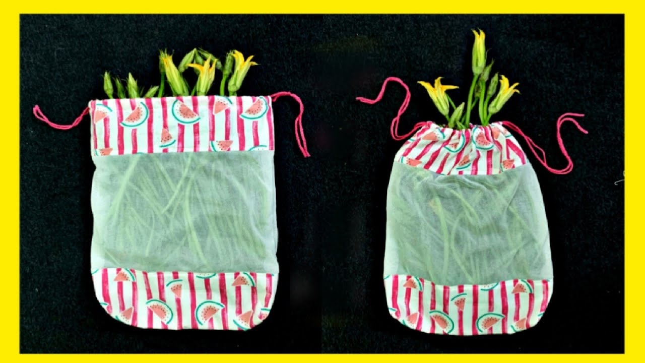 Recycling products from fabric scraps: DIY drawstring bags   Easy self-sewing quickly