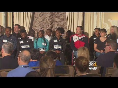 Field Of Elite Runners Introduced By John Hancock Financial in Boston