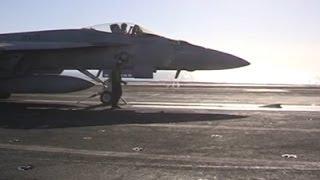 Raw: Navy Jets Prepare for Iraq Missions