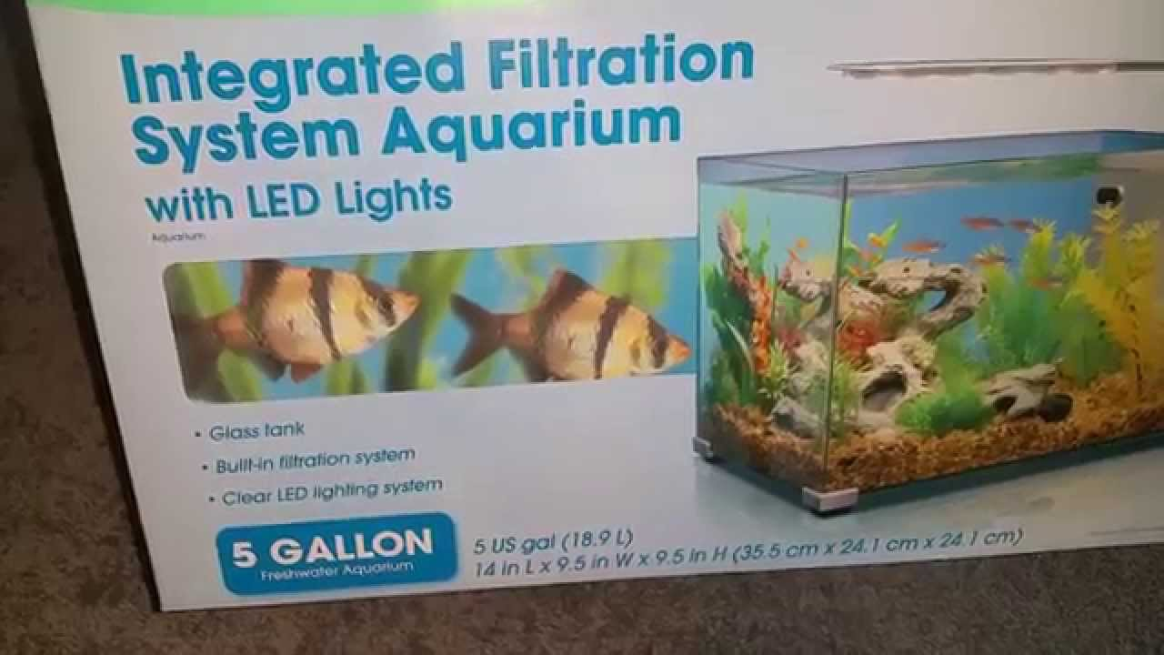 Aquarium fish tank complete system - 5 Gallon Top Fin Aquarium Fish Tank Unboxing