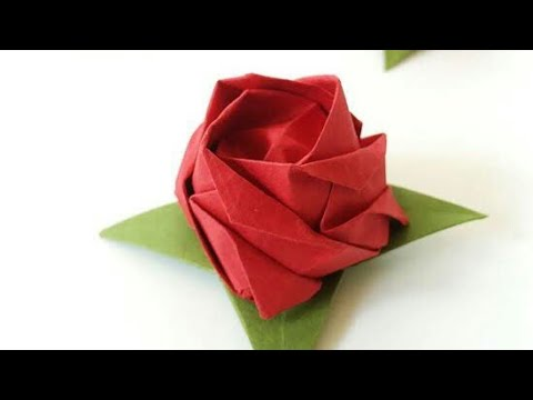 DIY Paper Rose- How to make a beautiful paper rose that looks real|| 5- minute crafts- paper