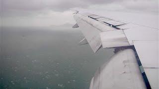 Wild landing in a typhoon! (777-200 in Hong Kong during Typhoon Rammasun) [1080 HD]