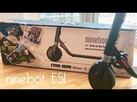 My First Electric Scooter - Ninebot ES1 Electric Kick Scooter Unboxing