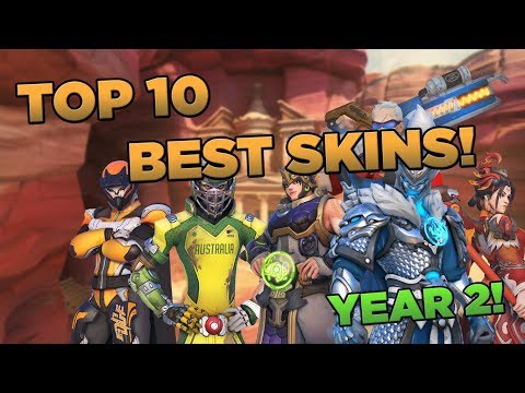 Overwatch - Top 10 BEST Skins From Year 2!