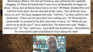Lesson 69  Mark 10:46-52 September 15, 2020