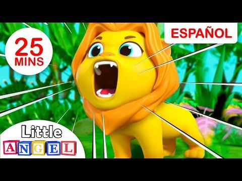 Los Animales de la Selva, ¡Aprende con el Monito!   Canciones Infantiles   Little Angel Español