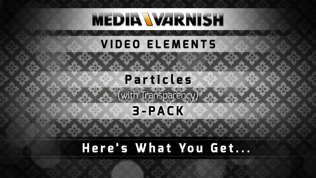 Particles (on Transparent) 3-PACK | Video Elements