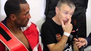 EMOTIONS RUN HIGH POST FIGHT - JAMES DeGALE, JIM McDONNELL, EDDIE HEARN & ADAM SMITH