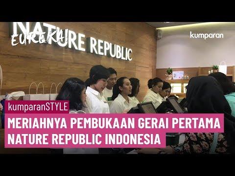 Meriahnya Pembukaan Gerai Pertama Nature Republic Indonesia