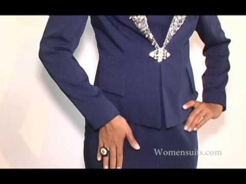 Navy Womens Church Suit