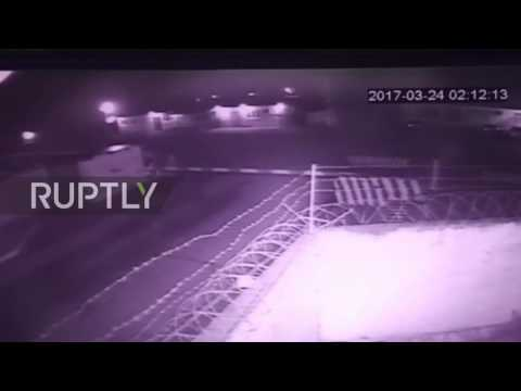 Russia: CCTV captures start of deadly attack on base in Chechnya