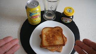 English Food Taste Test | Marmite Toast & Lipton Sparkling Ice Tea | Food & Drink