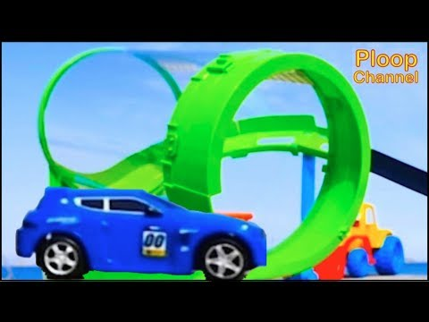 Thumbnail: NEW - Bussy & Speedy SEASIDE RACING! - Bburago Toy Cars for Children.Stories for Kids