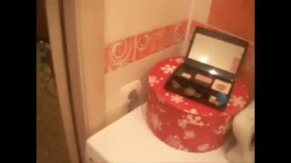 Ванна Туалет под ключ.оранжевая плитка