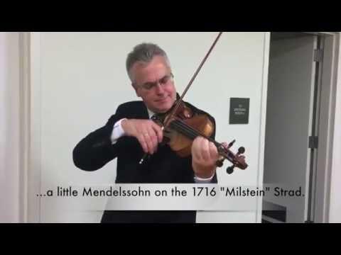 1716 'Milstein' Stradivarius, with Violinist Martin Chalifour