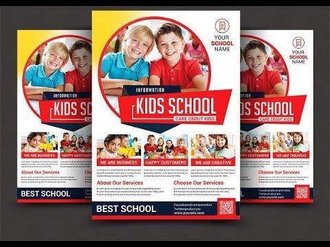 Junior School Education Flyer Design Using CorelDraw - YouTube