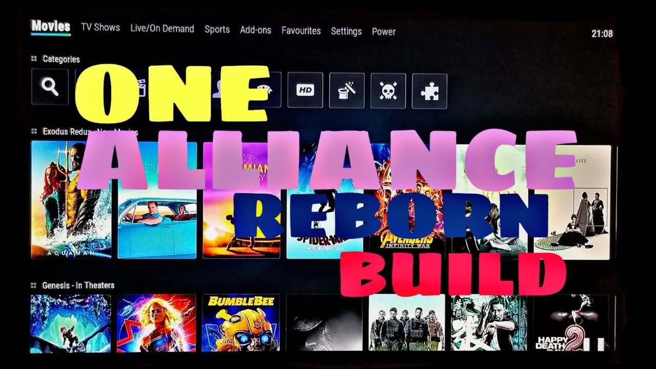 HOW TO INSTALL ONE ALLIANCE REBORN BUILD ON KODI 18 1 2019