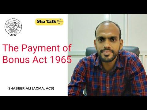 PAYMENT OF BONUS ACT 1965(Malayalam) For CA, CMA, CS ,UPSC, PSC ,JRF ,NET Exams