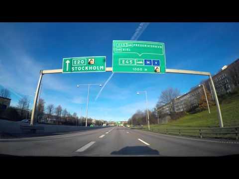 Scandinavian dashcam Gothenburg City E6