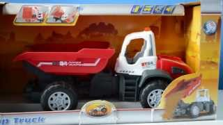 Dickie Toys Motorised Dump Truck with lights and sound effects