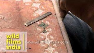 Indian Marble Artist Carving Tabletop - Jaipur
