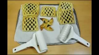 як зробити сітку з тіста на пиріг ножем