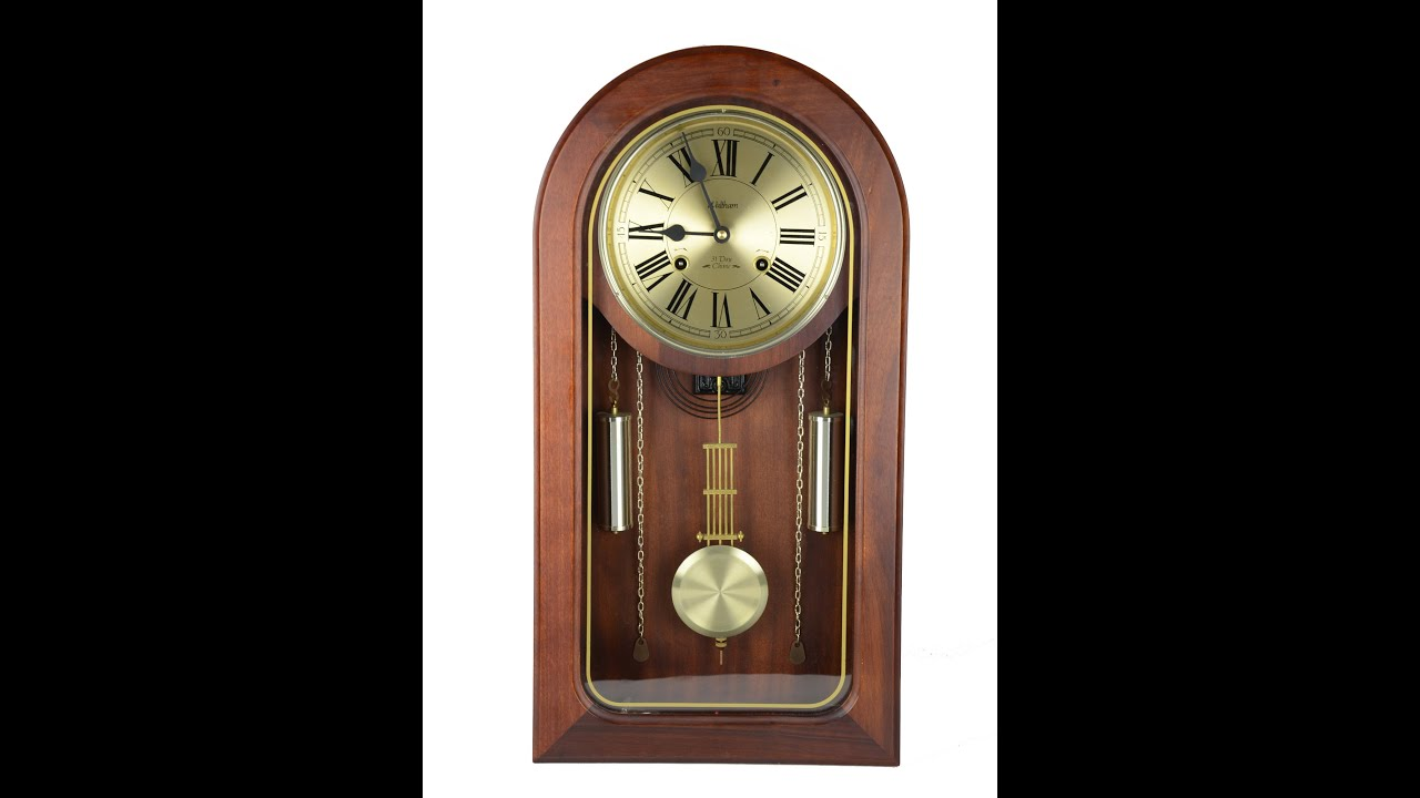 Waltham 31 day chime wall clock youtube waltham 31 day chime wall clock amipublicfo Image collections