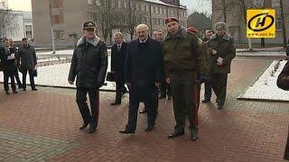 Александр Лукашенко посещает бригаду спецназначения внутренних войск МВД