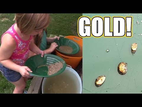 We found GOLD!  Panning for gold kit!   Time For Toys   Babyteeth4