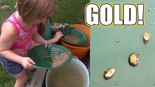 We found Gold! Panning for gold kit