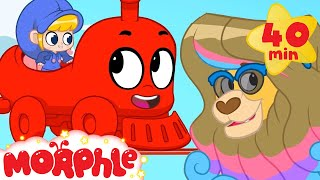 Animal Train - My Magic Pet Morphle | Cartoons For Kids | Morphle TV | Mila and Morphle