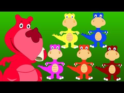Five Little Dinosaurs | Five Little Series | Original Nursery Rhyme