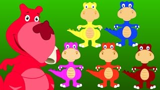 Five Little Dinosaurs | Five Little Series | Original Nursery Rhyme