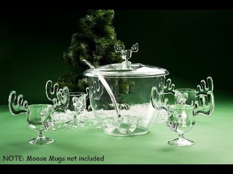 christmas vacation marty moose punch bowl set - Christmas Vacation Moose Punch Bowl