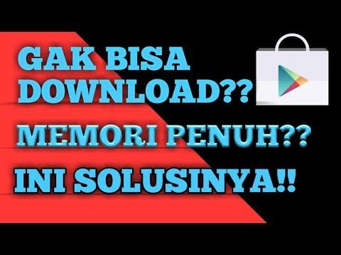 tidak bisa download di playstore memori penuh
