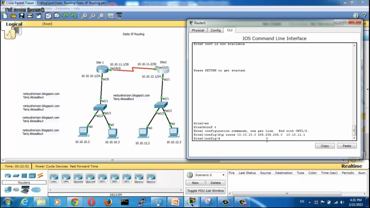 Static routing configuration in packet tracer static routing static routing configuration in packet tracer static routing between two routers greentooth Images