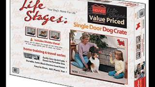 Midwest Life Stages Single Door Folding Metal Dog Crate