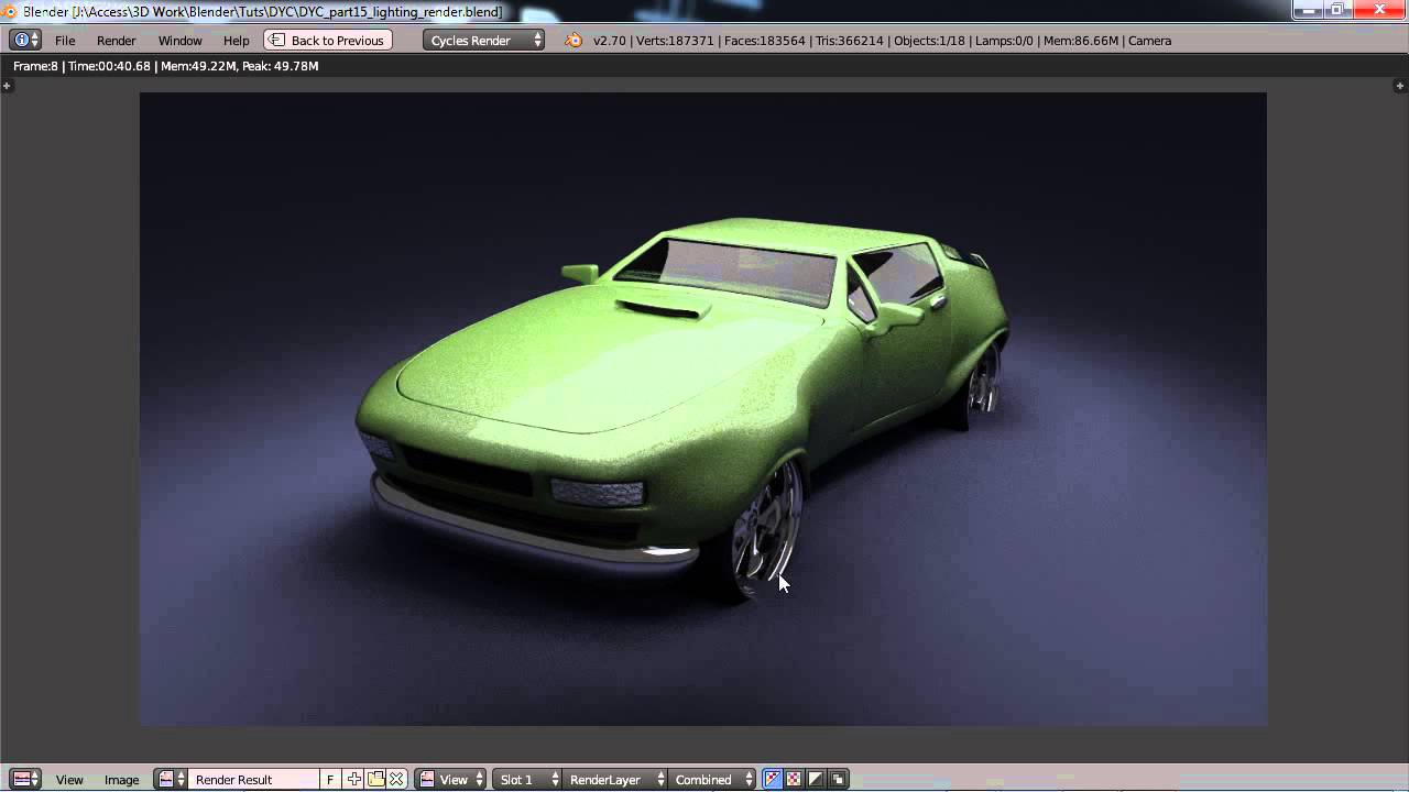 Design Your Own Car >> Blender For Noobs Design Your Own Car Part 15 Lighting Rendering