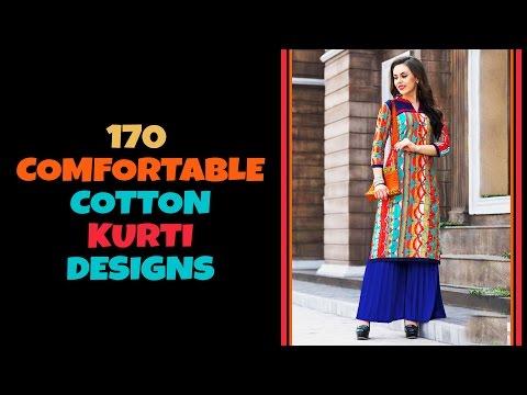 170 Comfortable Cotton Kurti Designs