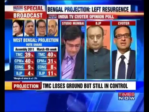 Opinion Polls for 2016 Assembly Elections | West Bengal |Yashwant Deshmukh |Times Now