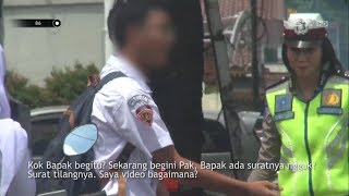 Anak Sekolah Dibawah Umur Ngeyel Dan Merasa Dirinya Benar Saat Ditilang Polisi