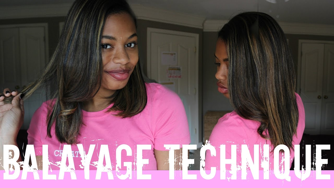 Balayage Color Technique Blonde On Natural Hair Results Review