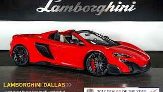 McLaren 675LT Spider 2017 Videos
