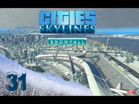 Lets Play Cities Skylines Snowfall #031 | Memphis-Heathrow Airport [German]