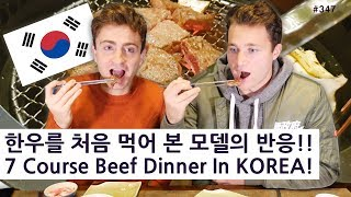 7 Course Dinner In KOREA! (347/365) 한우코스요리를 처음 먹어 본 미국 모델의 반응!!