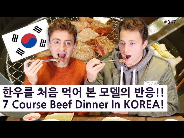 한우코스요리를 처음 먹어 본 미국 모델의 반응!! (347/365) 7 Course Dinner In KOREA!