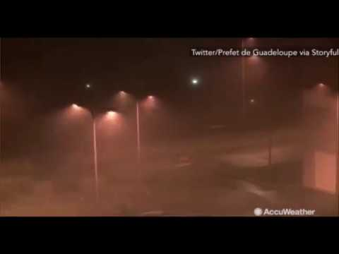 Hurricane Maria 2017 Live in Dominica and Guadeloupe  - Hurricane Maria St Lucia, Dominican Republic