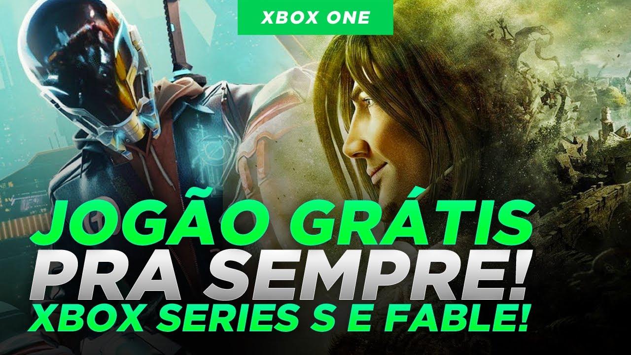 NOVO JOGO GRANDE GRÁTIS PRA SEMPRE, REVELAÇÕES do XBOX SERIES S, FABLE REBOOT chegando!