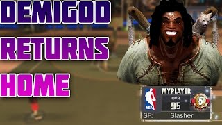 NBA 2K17 - DEMIGOD RETURNS TO MYPARK GAMEPLAY MOD